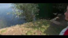 Hidden cam outdoor sex with German girlfriend