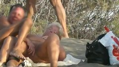 Nudist amateur swinger couples fucking on a Spanish beach