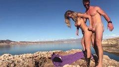 Couple fucking on the lake side