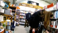 Exhibitionist wife flashing in stores