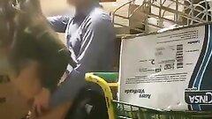 Hidden camera filmed manager screwing female employee in warehouse
